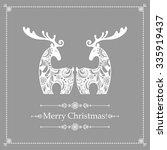 christmas card. celebration ...   Shutterstock .eps vector #335919437