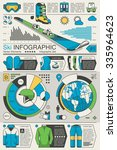 vector infographic with ski... | Shutterstock .eps vector #335964623
