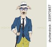 whippet boy hipster  fashion...   Shutterstock .eps vector #335973857