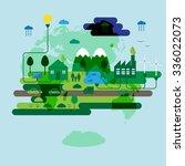 ecology concept  green energy... | Shutterstock .eps vector #336022073