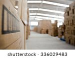 interior of warehouse. rows of... | Shutterstock . vector #336029483