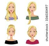 different types of female hair... | Shutterstock .eps vector #336030497