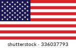 vector image of american flag | Shutterstock .eps vector #336037793