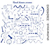 hand drawn arrows for your... | Shutterstock .eps vector #336040643