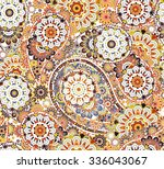 traditional paisley pattern... | Shutterstock .eps vector #336043067