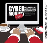cyber monday sale background... | Shutterstock .eps vector #336046517