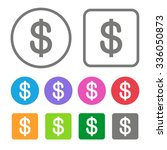 flat design money icon color... | Shutterstock . vector #336050873