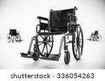 standard manual wheelchair... | Shutterstock . vector #336054263