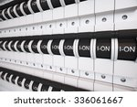 new type trip switch fuse box.... | Shutterstock . vector #336061667