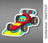 cartoon sport car sticker for... | Shutterstock .eps vector #336072137