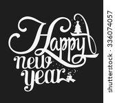 happy new year vector... | Shutterstock .eps vector #336074057