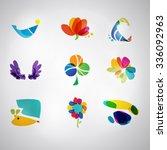 logo set. vector. abstract spa...   Shutterstock .eps vector #336092963