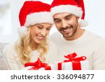 christmas  holidays and people... | Shutterstock . vector #336094877
