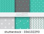 seamless minimal christmas... | Shutterstock .eps vector #336132293