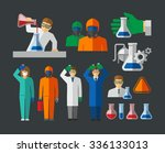 chemist and material scientist... | Shutterstock .eps vector #336133013
