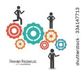 human resources concept with... | Shutterstock .eps vector #336147713