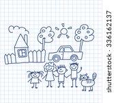 vector image of happy family...   Shutterstock .eps vector #336162137