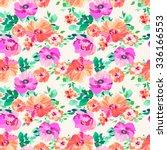 romantic floral   seamless...   Shutterstock .eps vector #336166553