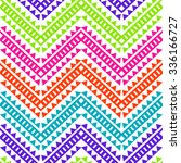 colorful geo zigzag   seamless... | Shutterstock .eps vector #336166727