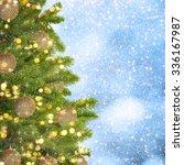 gold christmas background of de ... | Shutterstock . vector #336167987