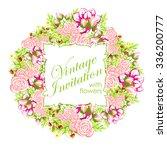 vintage delicate invitation... | Shutterstock .eps vector #336200777