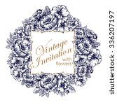 invitation with floral... | Shutterstock .eps vector #336207197