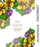vintage delicate invitation... | Shutterstock . vector #336208007