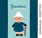 happy grandparents day design ... | Shutterstock .eps vector #336227033