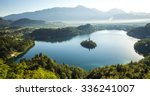 aerial view of bled lake ... | Shutterstock . vector #336241007