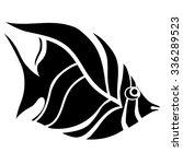 monochrome stylized fish. hand... | Shutterstock .eps vector #336289523