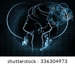 human tangents series. backdrop ... | Shutterstock . vector #336304973