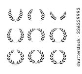 laurel wreaths symbol set | Shutterstock .eps vector #336329993