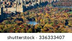 central park and manhattan ... | Shutterstock . vector #336333407