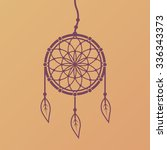 dreamcatcher vector design... | Shutterstock .eps vector #336343373