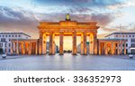 berlin   brandenburg gate at... | Shutterstock . vector #336352973