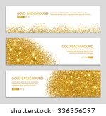 Gold sparkles on white backround, banners. Gold banner. Gold background text. Banners logo, web, card, vip, exclusive, certificate, gift, luxury, privilege, voucher, store, present, shopping, sale.