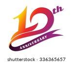 anniversary emblems 10... | Shutterstock .eps vector #336365657
