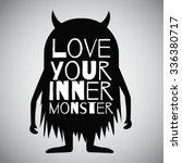 vector monster cartoon  black...   Shutterstock .eps vector #336380717