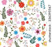 vector illustration of floral... | Shutterstock .eps vector #336395567