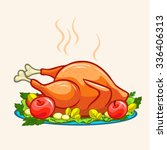 thanksgiving appetizing fried... | Shutterstock .eps vector #336406313