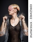 model with coloring hairstyle   Shutterstock . vector #336425603