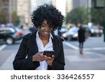 business woman in new york city ... | Shutterstock . vector #336426557