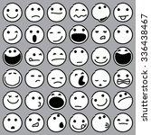 caricature emoticons. vector... | Shutterstock .eps vector #336438467