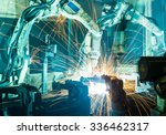 welding robots movement in a... | Shutterstock . vector #336462317