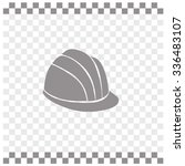 safety hard hat vector icon.