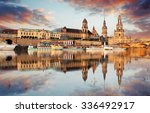 panorama of dresden old town... | Shutterstock . vector #336492917