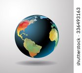 world globe vector illustration. | Shutterstock .eps vector #336493163