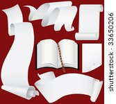 paper banners  scrolls and book ... | Shutterstock .eps vector #33650206