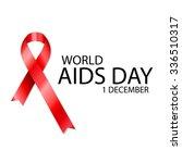1 december world aids day... | Shutterstock .eps vector #336510317