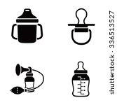 baby stuff vector icons | Shutterstock .eps vector #336513527